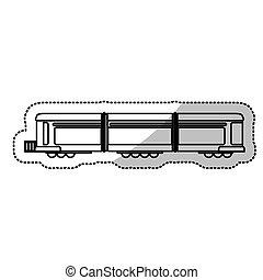 passageiro, corte, linha trem, locomotiva, transporte