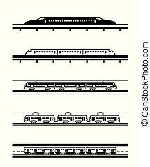 passageiro, diferente, tipos, trens