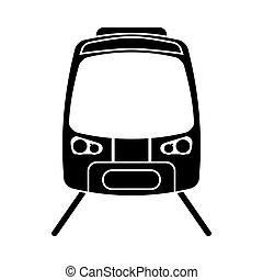 passageiro, silueta, trilho, alto, trem, velocidade, estrada