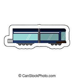 passageiro, sombra, trem, transporte ferroviário