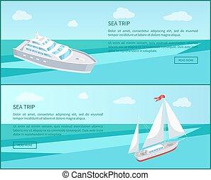 passageiro, teia, viagem, forro, mar, cartazes, marinho,...