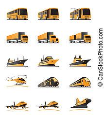 passageiro, transporte, carga