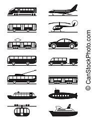 passageiro, transporte, público