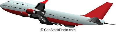 passageiro, vect, airplanes., colorido