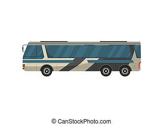 passageiro, vetorial, isolado, autocarro, ícone