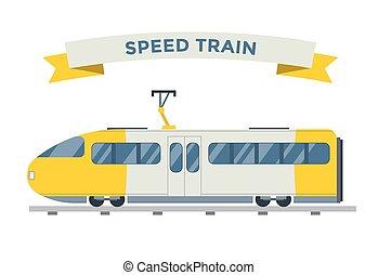 passageiro, vetorial, transporte, cobrança, trens