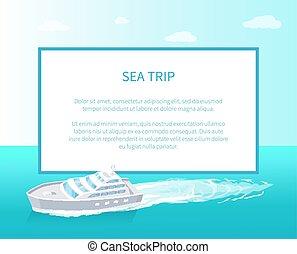 passageiro, viagem, forro, vetorial, navio, marinho, ícone