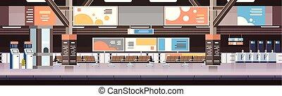 passageiros, conceito, transporte, não, vazio, plataforma, trem, metrô, interior, estação, estrada ferro, ou, transporte