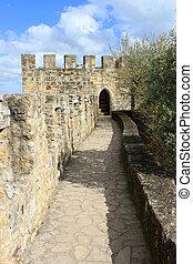 passagem, em, sao, jorge, castelo, lisboa, portugal