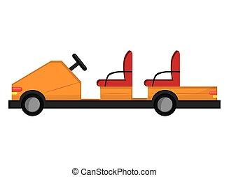 passager, aéroport, voiture électrique, icône