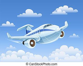 passager, avion, voler, ciel