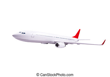 passager, blanc, avion