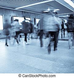 passager, business, promenade