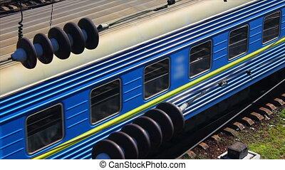 passager, dépassement, train, (full, hd)