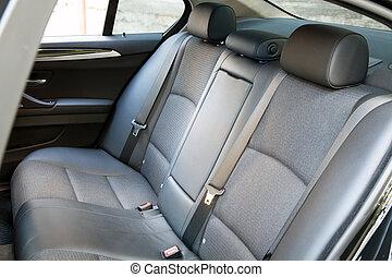 passager, dos, sièges voiture