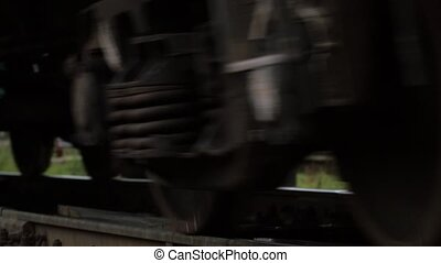 passager, gros plan, train, coup, dépassement