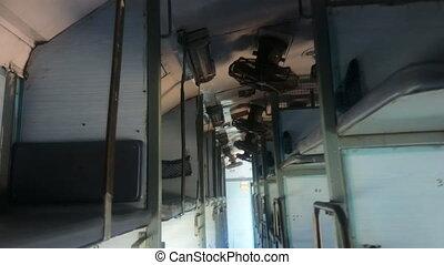 passager, intérieur, train, indien, classique