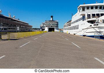 passager, mer, port., split.
