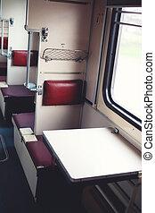 passager, Passagers, siège, fenêtre,  train, intérieur