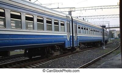passager, passagers, suburbain, diesel, porte, train