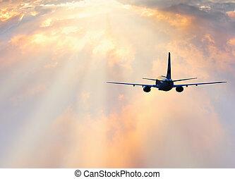 passager, plane.