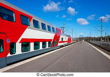 passager tog, afrejse