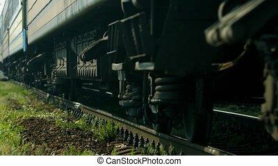 passager, train.