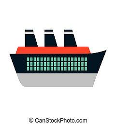 passager, voyage, maritime, croisière