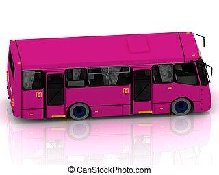 passagers, aéroport, transport, autobus