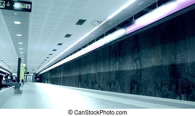passagers, défaillance, métro, temps