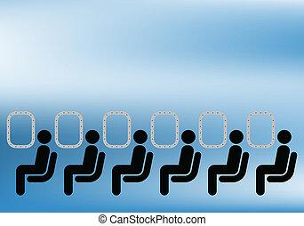 passagers, ligne aérienne