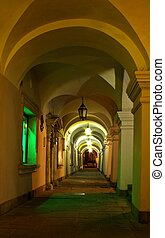 Passageway at night