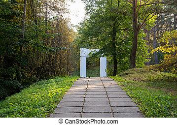 passaggio, arco, foresta