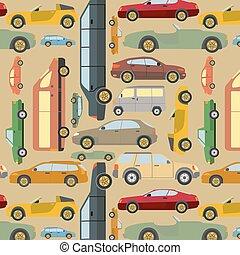 passagier, achtergrond, auto