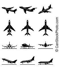 passagier, anders, vliegtuigen