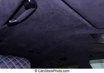 passagier, decke, stiel, abstimmen, leder, auto, nahaufnahme, plastik, tuch, werkstatt, schwarz, studio, sitz, gezogen, weich, ansicht