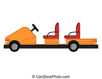passagier, luchthaven, elektrische auto, pictogram