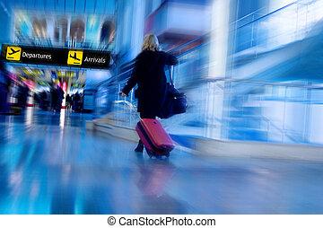 passagier, luchtroute