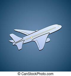 passagier, pictogram, aircraft.