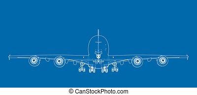 passagier, vector, aircraft.