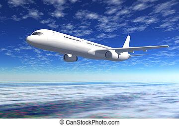 passagier verkehrsflugzeug, flug
