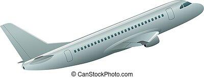 passagier, vliegtuig