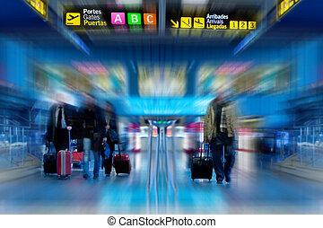 passagiers, luchtroute