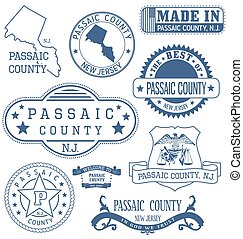 Passaic county, NJ, generic stamps and signs - Passaic...