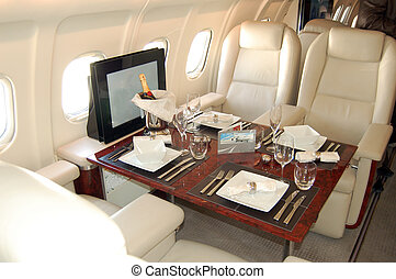 Passanger Cabin of the bussiness aircraft