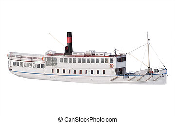 passanger ship - Passanger ship isolated