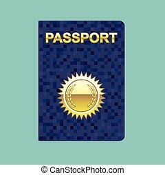 passaporte, ícone