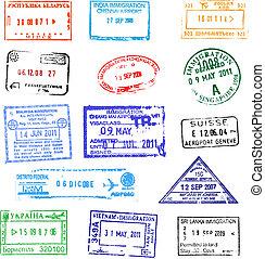 passaporte, selos