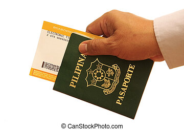 passaporto, mano