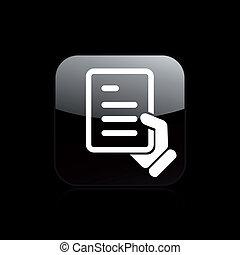 passar, isolado, ilustração, único, vetorial, documento, ícone